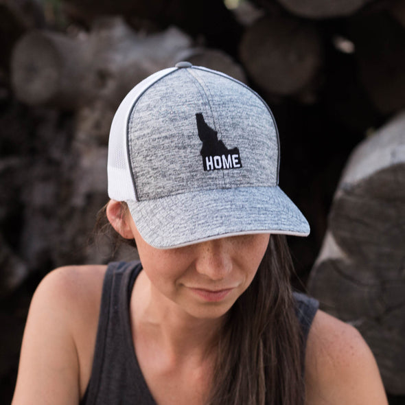 Idaho Home Graphite Heather Trucker Hat
