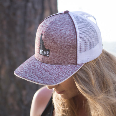 Idaho Home Maroon Heather Trucker Hat