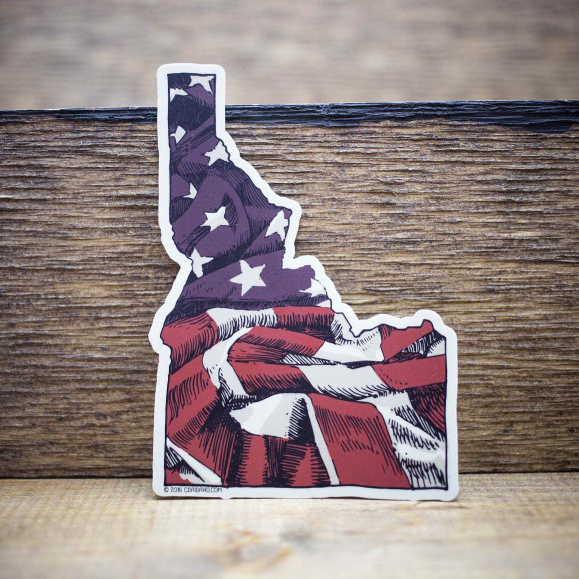 Idaho US Flag Sticker