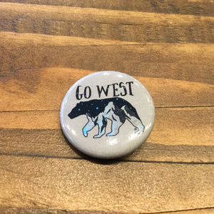 Go West Button
