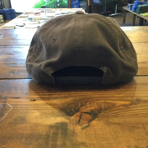 Gray Corduroy Gangster Moose Hat