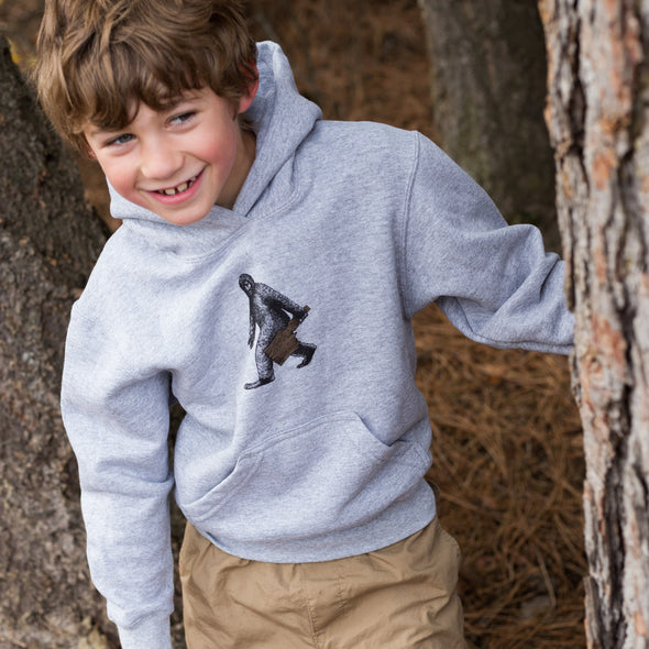 Kids Heather Gray Bigfoot Hoodie