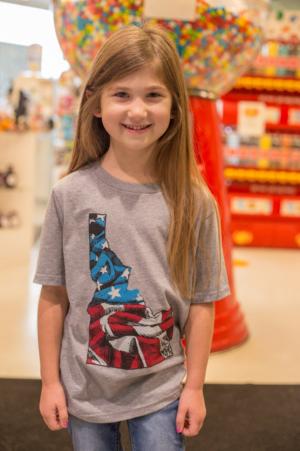 Kids Idaho US Flag Tee
