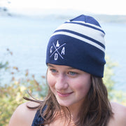 CDA Logo Navy Striped Beanie