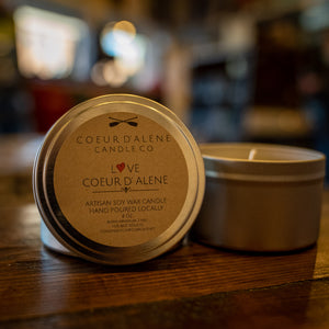 CDA Candle Co Love Coeur d' Alene 8oz. Soy Candle