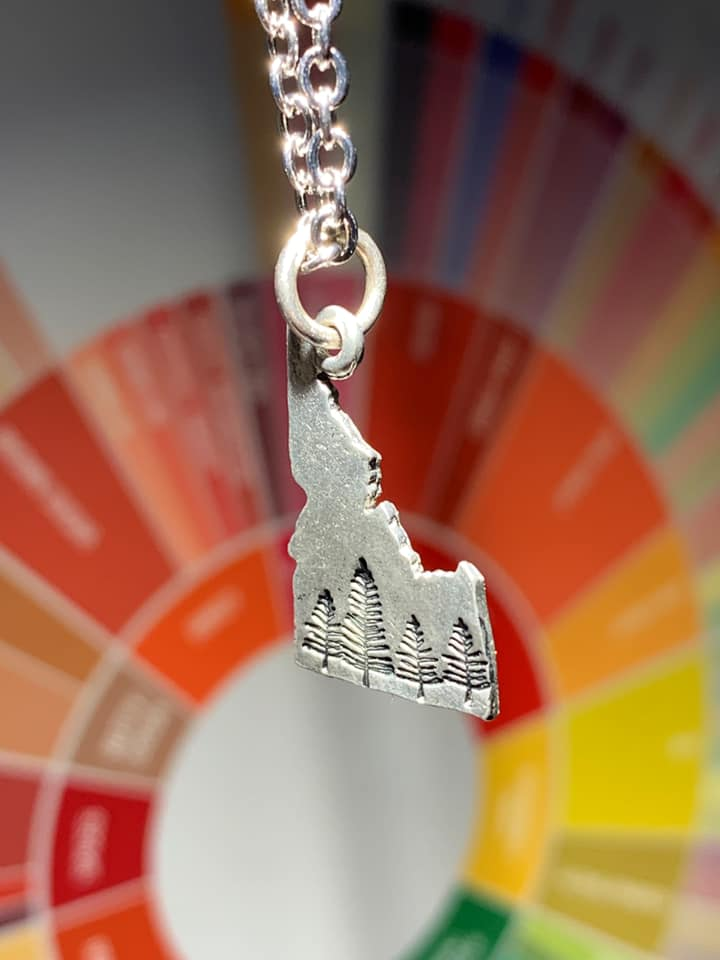 Silver Idaho Tree Necklaces