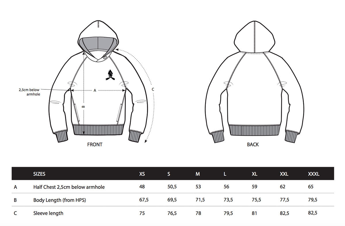 scuba sweater size guide
