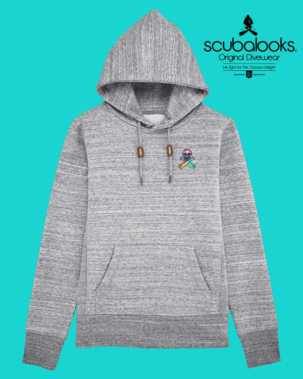 Grey Scuba Hoodie Patched