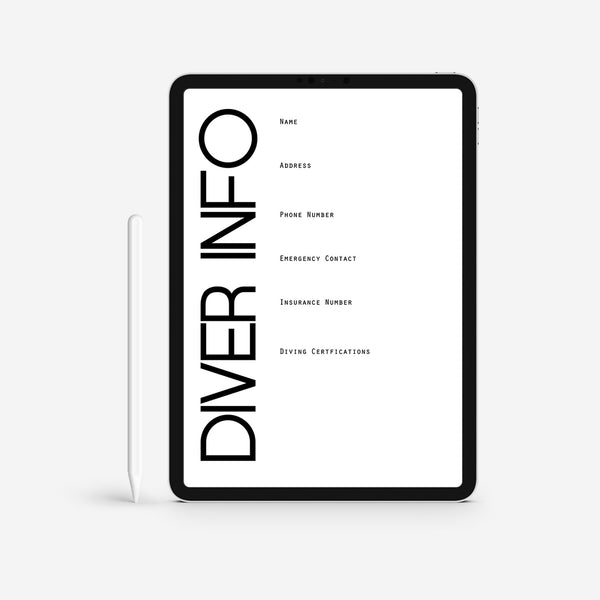 Scuba Log Book Template - Diver To The Bone