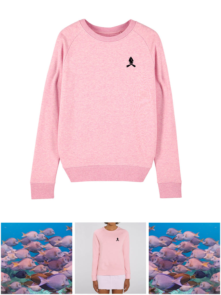 SCUBA SWEATER DIVER LOGO EMBROIDERED - PINK
