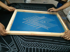 each screen prints are done by hand