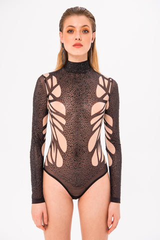 Mesh Long Sleeve Body Suits
