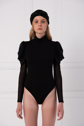 Turtle neck Puff Long Sleeve Body Suits