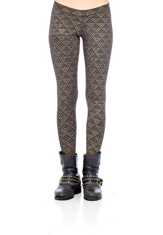 Pyramid Print Full Length Legging