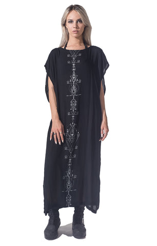 Lunar print long Toga  Dress