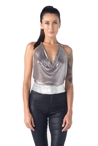Disco Ball Halter Top