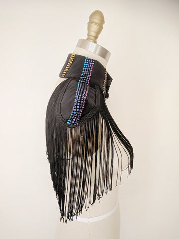Fringe Shoulder Pads