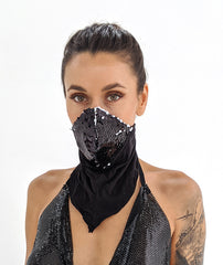 Sequin Scarf Mask