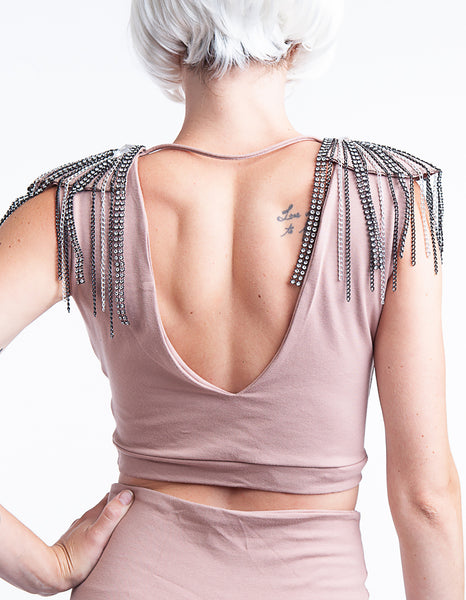 Sparkle Epaulette top