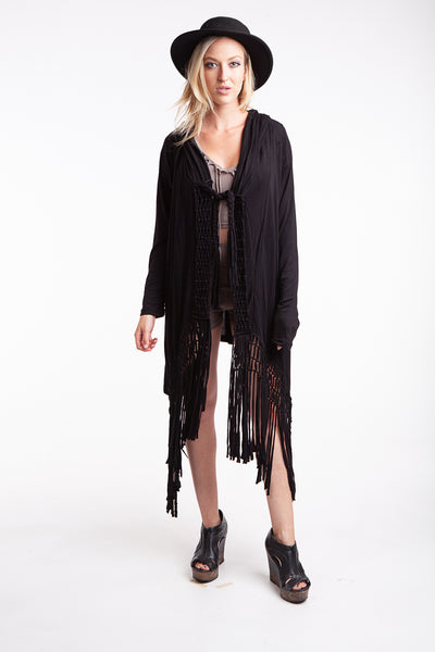 Macrame cardigan Closed back