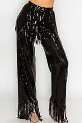 Sequin wide Pants