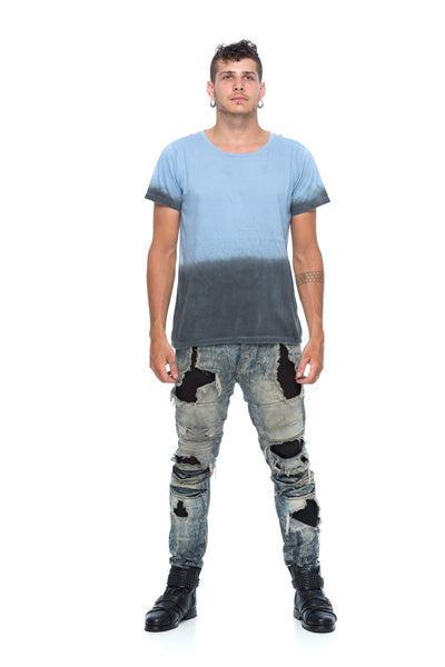 Men's Wabi-Sabi Bottom Brush Tee MBT-AB