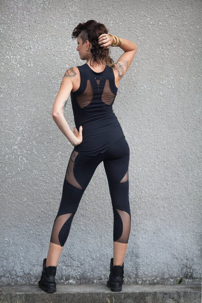 Pyramid Side Mesh Legging