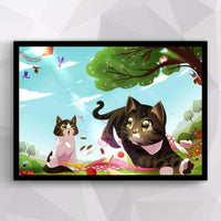 Waffles & Cella Seasonal Poster - 4 Pack
