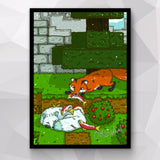 Fish Fox & Frost Fox How To Minecraft Poster