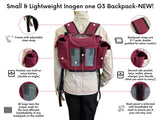 Inogen One G3 Backpack in Burgundy (also fits Oxygo unit) - O2TOTES