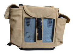 Inogen one G3 Backpack in Dark Tan (also fits Oxygo unit) - O2TOTES