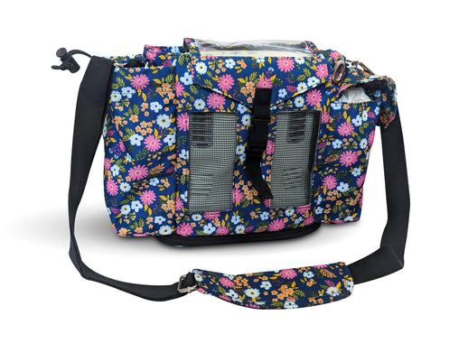 Inogen One G3 Carry & Crossbody Bag in Flower Print (also fits Oxygo unit) - O2TOTES