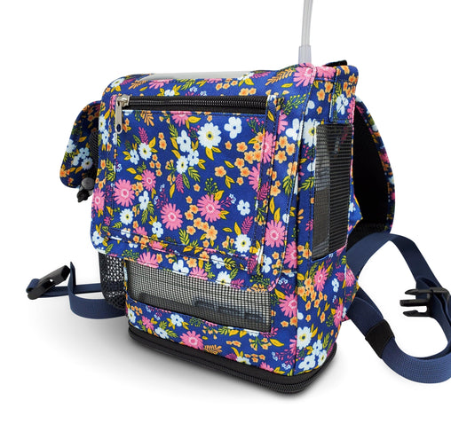 Oxygo Next Backpack-Lightweight Design with Zippered pockets in Floral Canvas - O2TOTES