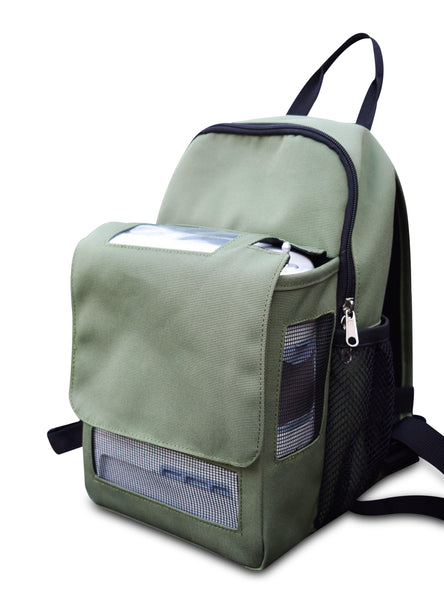 Inogen one G5 Backpack-With Storage Compartment in Green - O2TOTES