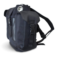 Oxygo Backpack in black with side pockets & comfort straps - O2TOTES
