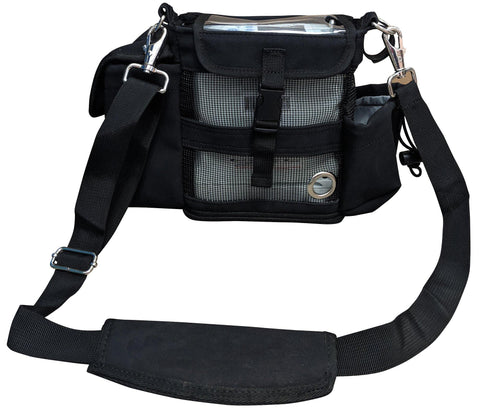 Inogen One G4 Carry & Crossbody Bag in Black (also fits Oxygo Fit unit) - O2TOTES