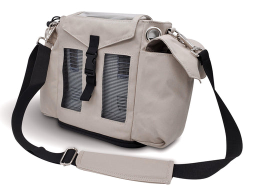 Oxygo Carry & Crossbody Bag in Beige - O2TOTES