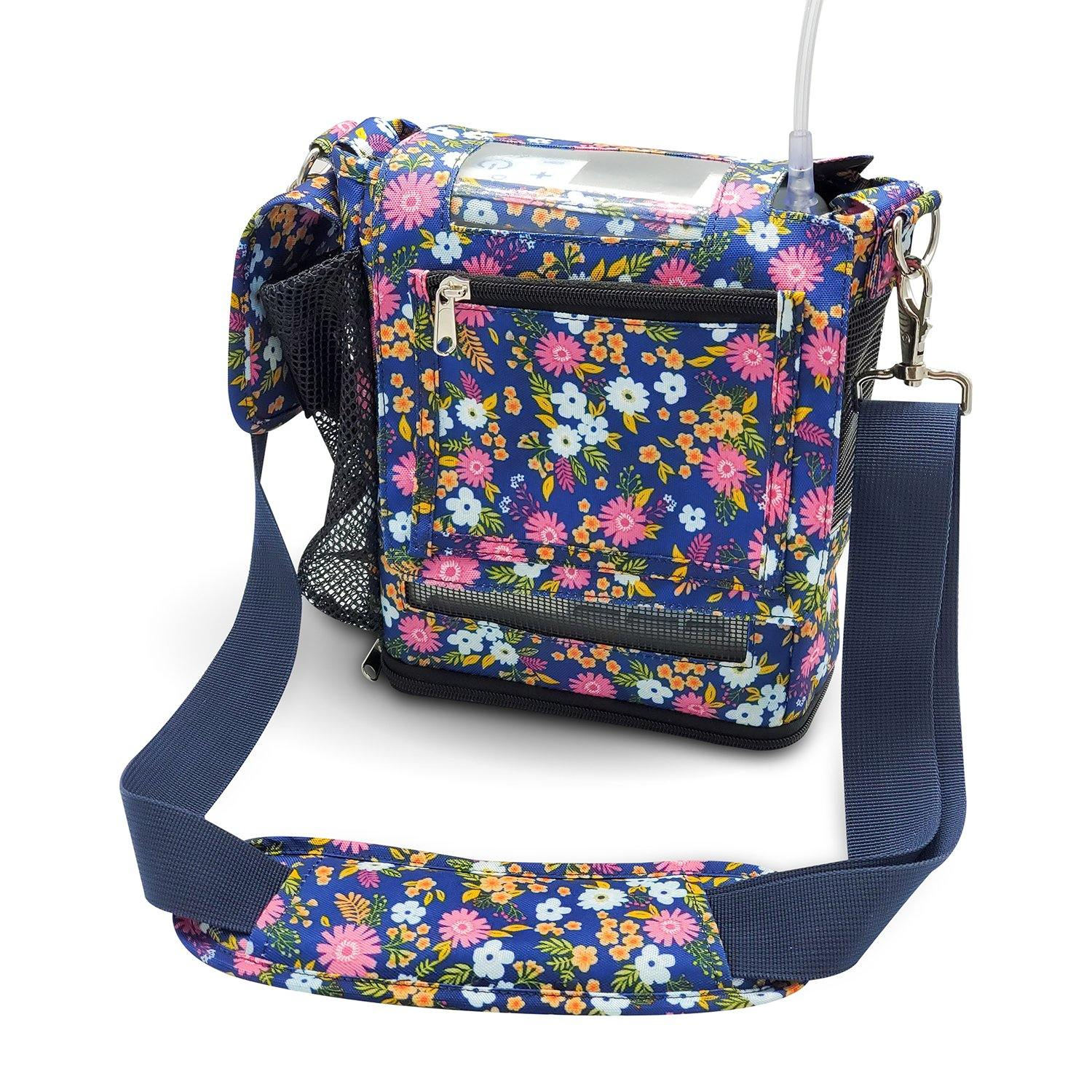 Inogen one G5 Carry Bag, custom carry bag in floral - O2TOTES