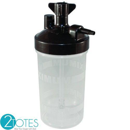 Humidifier bottle with 6 PSI-Humidification for oxygen therapy - O2TOTES