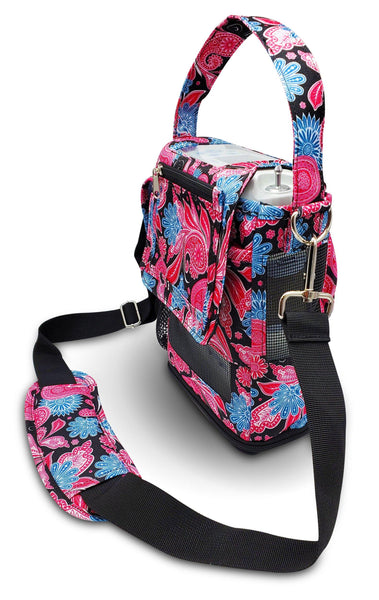 Inogen one G5 Carry Bag in Paisley Print - O2TOTES