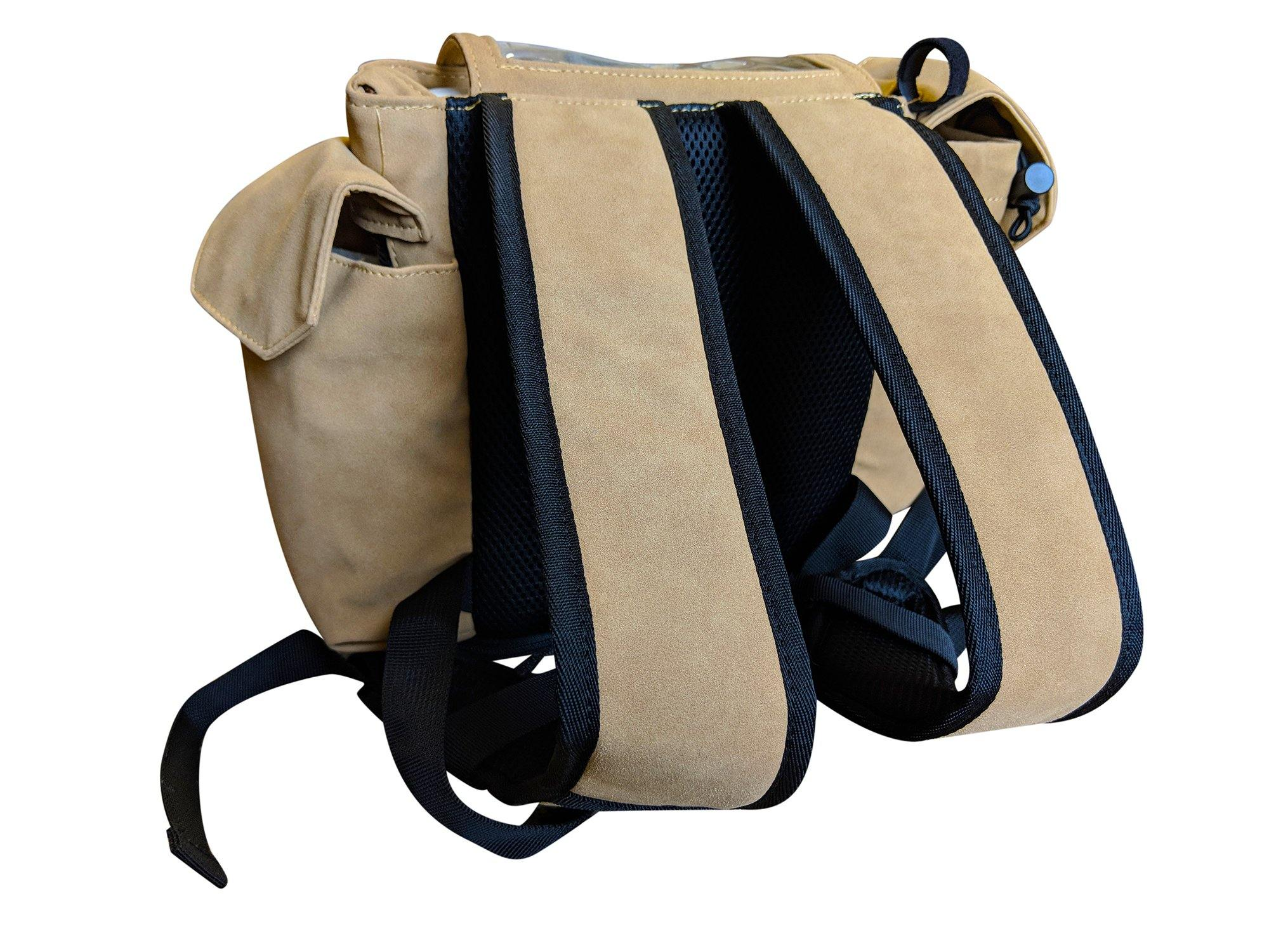 Inogen one G3 Backpack in Dark Tan - O2TOTES