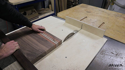 trimming-ends-of-cutting-board