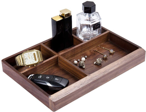 Black Walnut Multi-Functional Distressed Vintage Wooden Storage Box