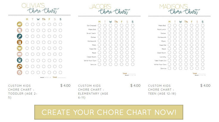 Create Custom Chore Chart Now