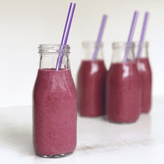 Kids Healthy Purple Rainbow Smoothie