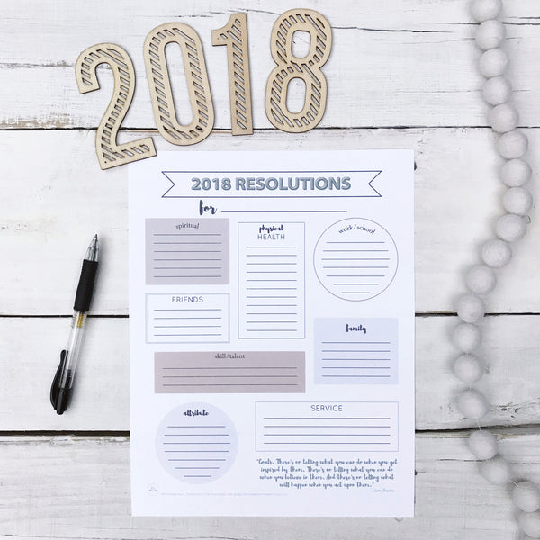 2018 New Year Resolutions