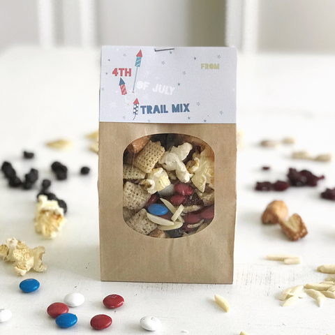 4th of July Trail Mix Gift Tag