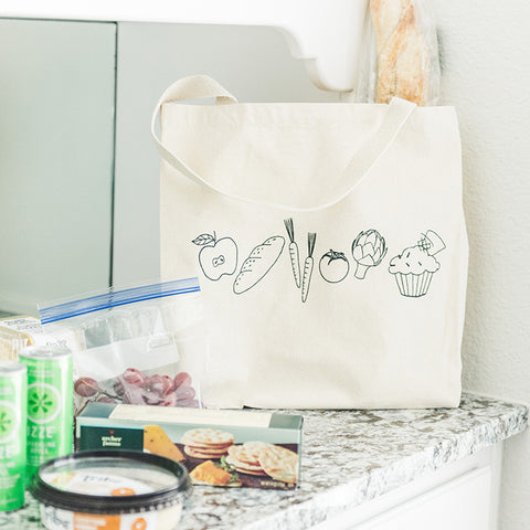 Canvas Tote Bag - Food