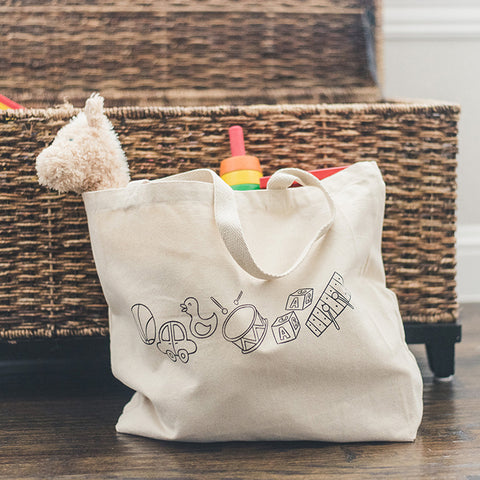 Canvas Tote Bag - Toys