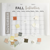 Fall Bucket List Activity Calendar Printable Download
